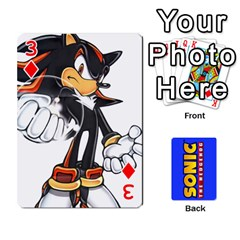 Sonic By Cheesedork   Playing Cards 54 Designs   3d234280gtve   Www Artscow Com Front - Diamond3