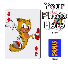 Sonic By Cheesedork   Playing Cards 54 Designs   3d234280gtve   Www Artscow Com Front - Diamond4