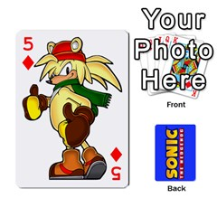 Sonic By Cheesedork   Playing Cards 54 Designs   3d234280gtve   Www Artscow Com Front - Diamond5