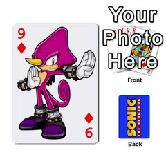 Sonic By Cheesedork   Playing Cards 54 Designs   3d234280gtve   Www Artscow Com Front - Diamond9