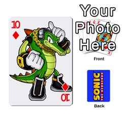 Sonic By Cheesedork   Playing Cards 54 Designs   3d234280gtve   Www Artscow Com Front - Diamond10
