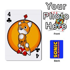 Sonic By Cheesedork   Playing Cards 54 Designs   3d234280gtve   Www Artscow Com Front - Club4