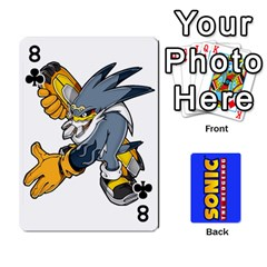 Sonic By Cheesedork   Playing Cards 54 Designs   3d234280gtve   Www Artscow Com Front - Club8