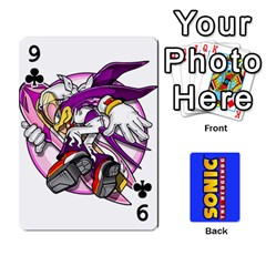 Sonic By Cheesedork   Playing Cards 54 Designs   3d234280gtve   Www Artscow Com Front - Club9