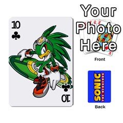 Sonic By Cheesedork   Playing Cards 54 Designs   3d234280gtve   Www Artscow Com Front - Club10