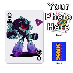 Queen Sonic By Cheesedork   Playing Cards 54 Designs   3d234280gtve   Www Artscow Com Front - ClubQ