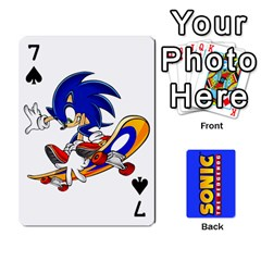 Sonic By Cheesedork   Playing Cards 54 Designs   3d234280gtve   Www Artscow Com Front - Spade7
