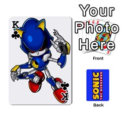King Sonic By Cheesedork   Playing Cards 54 Designs   3d234280gtve   Www Artscow Com Front - ClubK