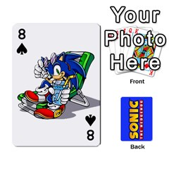 Sonic By Cheesedork   Playing Cards 54 Designs   3d234280gtve   Www Artscow Com Front - Spade8