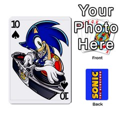 Sonic By Cheesedork   Playing Cards 54 Designs   3d234280gtve   Www Artscow Com Front - Spade10