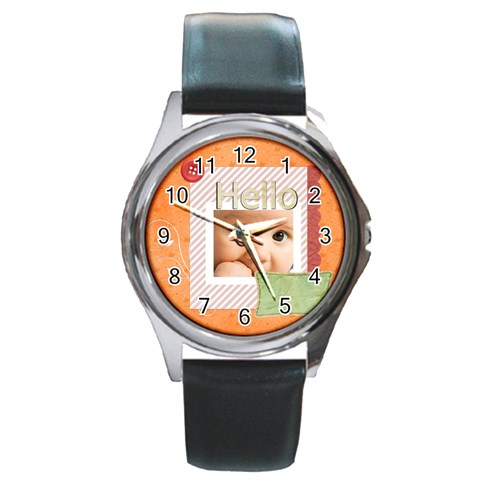 Hello By Joely   Round Metal Watch   Rleqjvelr82n   Www Artscow Com Front