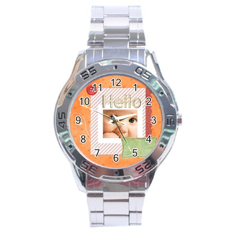 Hello By Joely   Stainless Steel Analogue Watch   9dsflh5b7053   Www Artscow Com Front