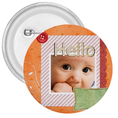 Hello By Joely   3  Button   Ksqbq3lcxa9t   Www Artscow Com Front