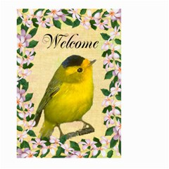Wilson Warbler Gardene Flag Large By Kim Blair   Large Garden Flag (two Sides)   Iu13v9ueaws8   Www Artscow Com Front