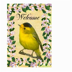 Wilson Warbler Gardene Flag Large By Kim Blair   Large Garden Flag (two Sides)   Iu13v9ueaws8   Www Artscow Com Back