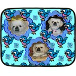 cute bird mini fleece blanket - Double Sided Fleece Blanket (Mini)
