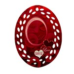 Red Love Oval filigree Ornament - Ornament (Oval Filigree)