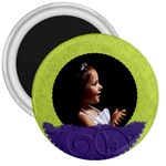 purple green circle - 3  Magnet