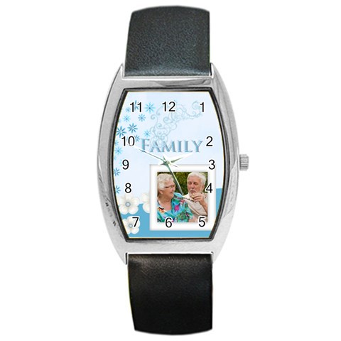 Family By Joely   Barrel Style Metal Watch   Cd3pb1tph06o   Www Artscow Com Front