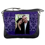 purple purse - Messenger Bag