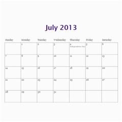 Touhou Calendar By George   Wall Calendar 11  X 8 5  (12 Months)   0jsc1d55gvdh   Www Artscow Com Jul 2013
