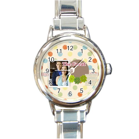 The Great By Joely   Round Italian Charm Watch   6825azr0r4dp   Www Artscow Com Front