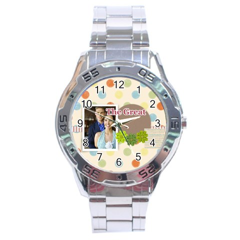 The Great By Joely   Stainless Steel Analogue Watch   Mqdiclw0tdwu   Www Artscow Com Front