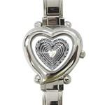 silver heart watch - Heart Italian Charm Watch