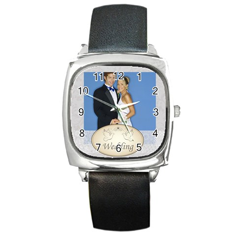 Wedding By Joely   Square Metal Watch   Crs7x21oitpy   Www Artscow Com Front