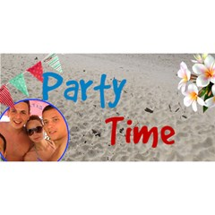 Party Time 3d Card By Deborah   Party 3d Greeting Card (8x4)   Nl4ahx8m7wd8   Www Artscow Com Front