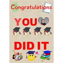 Congrats Be By Malky   You Did It 3d Greeting Card (7x5)   Fbe8dae6osj5   Www Artscow Com Inside