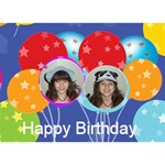 Birthday Balloons Cake Card - Birthday Cake 3D Greeting Card (7x5)