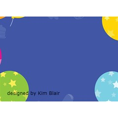Birthday Balloons Cake Card By Kim Blair   Birthday Cake 3d Greeting Card (7x5)   463syx5agpoq   Www Artscow Com Back