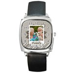 family - Square Metal Watch