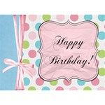 Birthday Girl 3-D card - Birthday Cake 3D Greeting Card (7x5)
