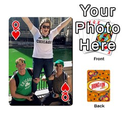 Queen Bio Playing Cards 54 Final By Pat Kirby   Playing Cards 54 Designs   N6o9uectlw0x   Www Artscow Com Front - HeartQ
