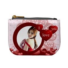 Love By Wood Johnson   Mini Coin Purse   Ddwcl41uz4id   Www Artscow Com Front