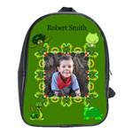 Green School bag large - School Bag (Large)