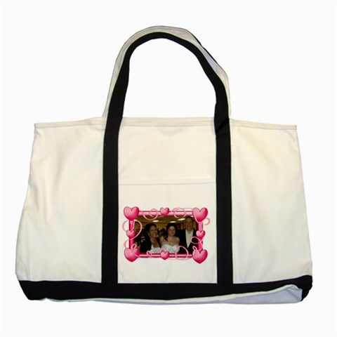 Heartframe Tote Bag By Kim Blair   Two Tone Tote Bag   Tdyl62b55w7i   Www Artscow Com Front