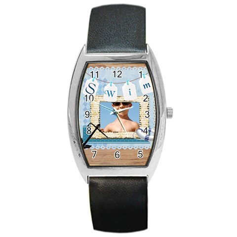 Swim By Joely   Barrel Style Metal Watch   Tfyvi3vz7agu   Www Artscow Com Front
