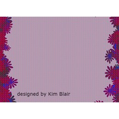 Blue Rose Get Well Card By Kim Blair   Get Well 3d Greeting Card (7x5)   89cmpne3wbev   Www Artscow Com Back