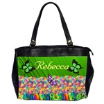 Rainbow garden Oversize Handbag (2 sides) - Oversize Office Handbag (2 Sides)
