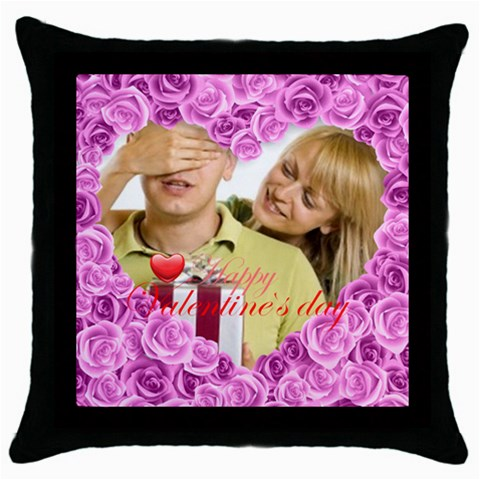 Lover By May   Throw Pillow Case (black)   0okkfwanfi1a   Www Artscow Com Front