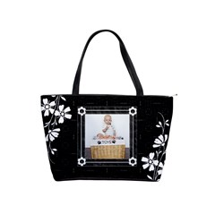 Black And White Classic Shoulder Handbag By Lil    Classic Shoulder Handbag   Lzi4j78e2myj   Www Artscow Com Front