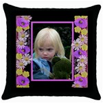 Little Poppy Throw Pillow - Throw Pillow Case (Black)
