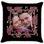 Our Love Throw Pillow - Throw Pillow Case (Black)