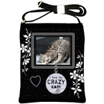 I Love My Crazy Cat Shoulder Sling Bag