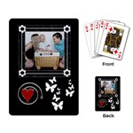 Black and White Playing Cards - Playing Cards Single Design
