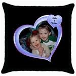 Pillow Amy - Throw Pillow Case (Black)