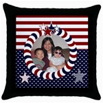 dan and din - Throw Pillow Case (Black)